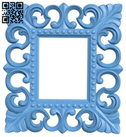 Picture frame or mirror A005330 download free stl files 3d model for CNC wood carving