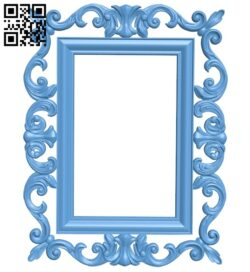 Picture frame or mirror A005331 download free stl files 3d model for CNC wood carving