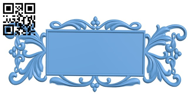 Picture frame or mirror A005333 download free stl files 3d model for CNC wood carving