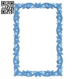 Picture frame or mirror A005353 download free stl files 3d model for CNC wood carving