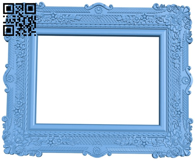 Picture frame or mirror A005400 download free stl files 3d model for CNC wood carving