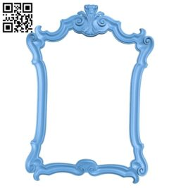 Picture frame or mirror A005404 download free stl files 3d model for CNC wood carving