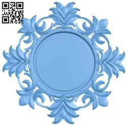 Picture frame or mirror circle A005402 download free stl files 3d model for CNC wood carving
