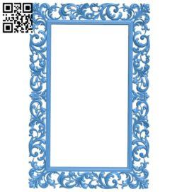 Picture frame or mirror  A005284 download free stl files 3d model for CNC wood carving