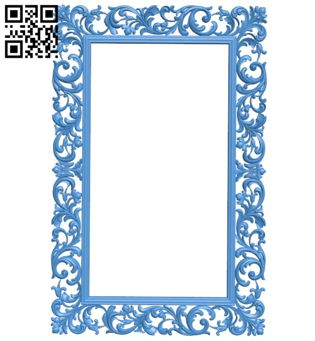 Picture frame or mirror - oval A005284 download free stl files 3d model for CNC wood carving