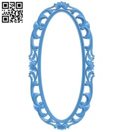 Picture frame or mirror – oval A005285 download free stl files 3d model for CNC wood carving