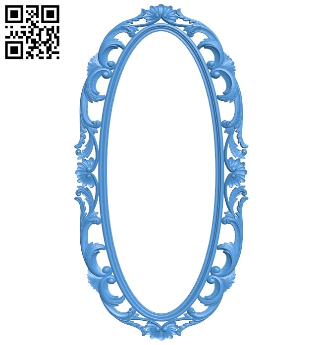 Picture frame or mirror - oval A005285 download free stl files 3d model for CNC wood carving