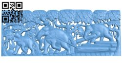 Pictures of elephants pulling wood A005424 download free stl files 3d model for CNC wood carving