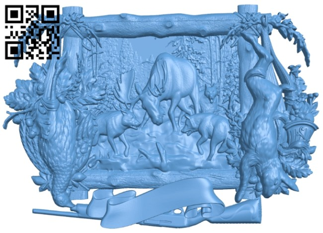 Pictures of hunting dogs A005337 download free stl files 3d model for CNC wood carving