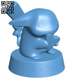 Pikachu – pokemon B008304 file stl free download 3D Model for CNC and 3d printer