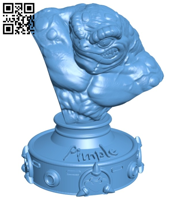 Pimple bust B008134 file stl free download 3D Model for CNC and 3d printer