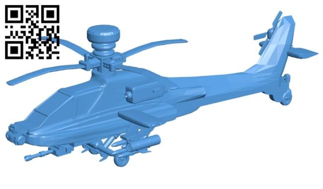 Planes AH-64 Apache B008070 file stl free download 3D Model for CNC and 3d printer