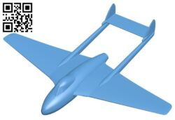 Planes De havilland vampire B008284 file stl free download 3D Model for CNC and 3d printer