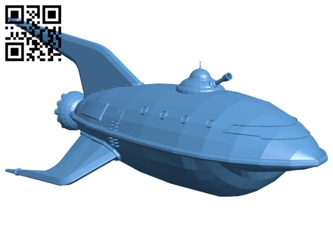 Planet express ship B008231 file stl free download 3D Model for CNC and 3d printer