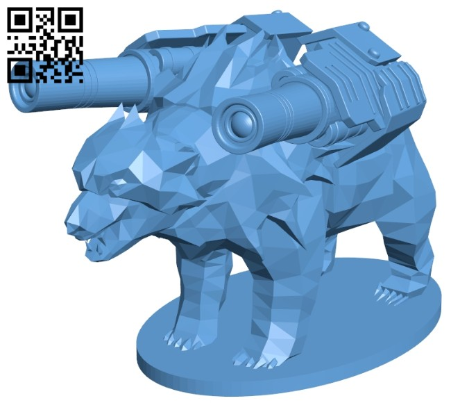 Polar bear armed B008146 file stl free download 3D Model for CNC and 3d printer