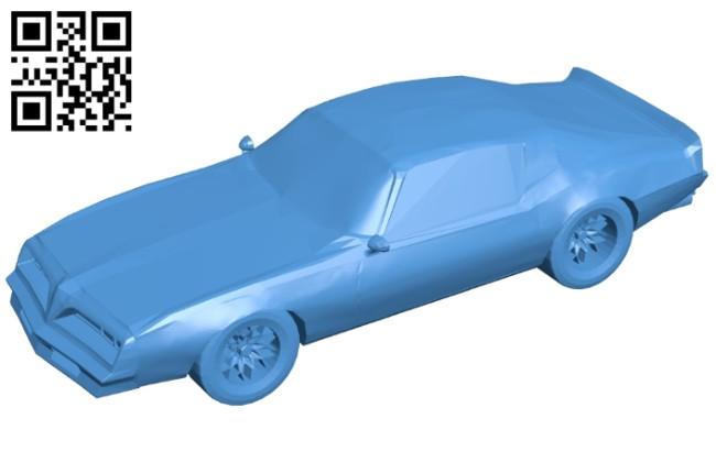 Pontiac trans car B008110 file stl free download 3D Model for CNC and 3d printer