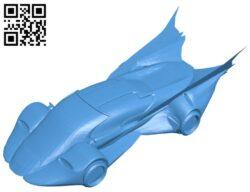 Predatory batmobile – car B008053 file stl free download 3D Model for CNC and 3d printer