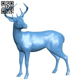 Realistic deer B008257 file stl free download 3D Model for CNC and 3d printer