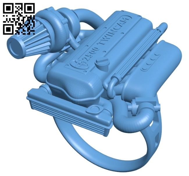 Ring - shaped internal combustion engine B008281 file stl free download 3D Model for CNC and 3d printer