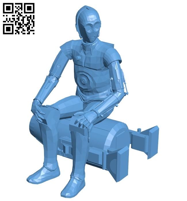 Robot C-3PO B008194 file stl free download 3D Model for CNC and 3d printer