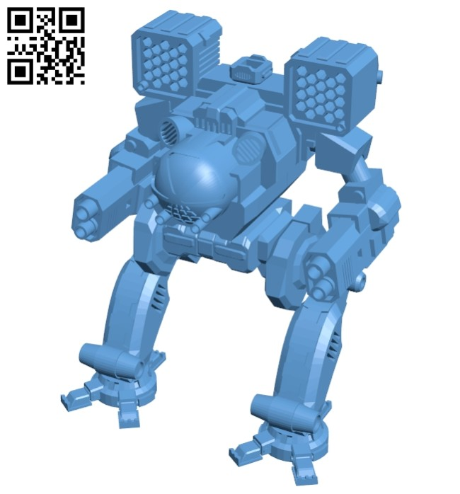Robot Mad cat III B008290 file stl free download 3D Model for CNC and 3d printer