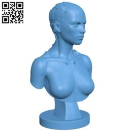 Robot SCI FI bust B008286 file stl free download 3D Model for CNC and 3d printer