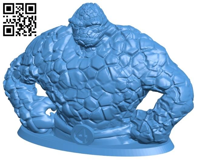 Rock man bust statue in the quartet - superhero B008047 file stl free download 3D Model for CNC and 3d printer