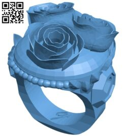 Rose ring B008150 file stl free download 3D Model for CNC and 3d printer