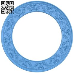 Round frame pattern A005241 download free stl files 3d model for CNC wood carving