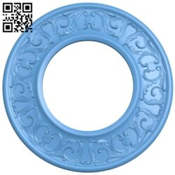 Round frame pattern A005306 download free stl files 3d model for CNC wood carving