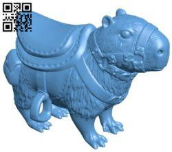 Saddled capybara B008149 file stl free download 3D Model for CNC and 3d printer