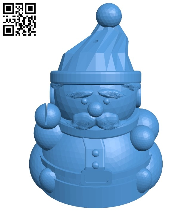 Santa claus B008103 file stl free download 3D Model for CNC and 3d printer