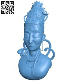 Shiva bust B008169 file stl free download 3D Model for CNC and 3d printer