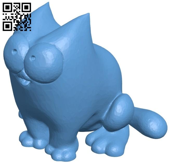 Simon cat sit B008160 file stl free download 3D Model for CNC and 3d printer