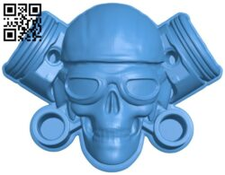 Skull pilot B008094 file stl free download 3D Model for CNC and 3d printer