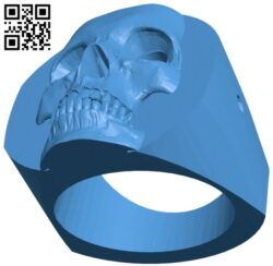 Skull ring B008131 file stl free download 3D Model for CNC and 3d printer