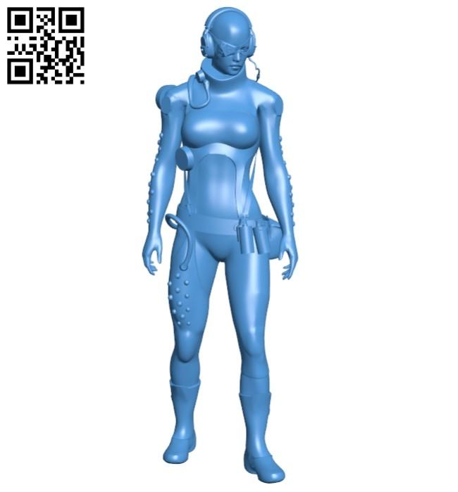 Skull sniper woman B008089 file stl free download 3D Model for CNC and 3d printer