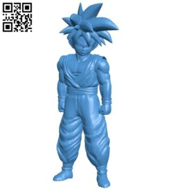 Songoku 7 dragon ball game B008057 file stl free download 3D Model for CNC and 3d printer