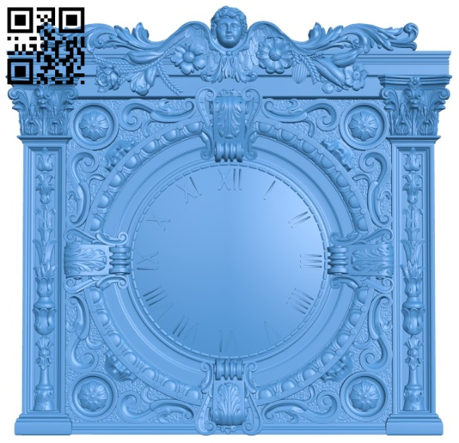 Square clock A005262 download free stl files 3d model for CNC wood carving