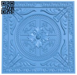 Square pattern A005251 download free stl files 3d model for CNC wood carving