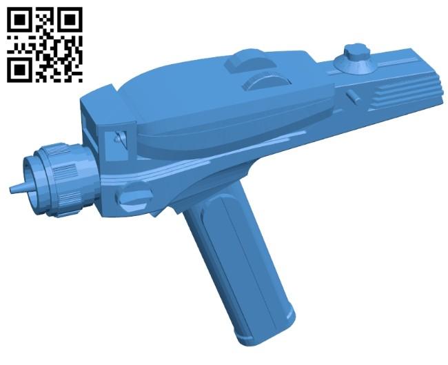Star Trek Phaser B008098 file stl free download 3D Model for CNC and 3d printer