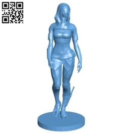 Tali'Zorah B008201 file stl free download 3D Model for CNC and 3d printer