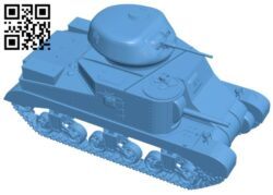 Tank M3 Grant B008294 file stl free download 3D Model for CNC and 3d printer