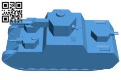 Tank O-I super heavy B008093 file stl free download 3D Model for CNC and 3d printer