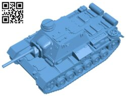 Tank SU-76i B008312 file stl free download 3D Model for CNC and 3d printer