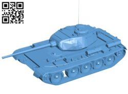 Tank T-44 B008161 file stl free download 3D Model for CNC and 3d printer