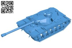 Tank T110E5 B008088 file stl free download 3D Model for CNC and 3d printer