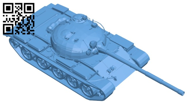 Tank T62A B008323 file stl free download 3D Model for CNC and 3d printer