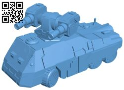 Tank assault vehicle B008299 file stl free download 3D Model for CNC and 3d printer