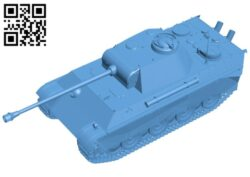 Tank panther g B008136 file stl free download 3D Model for CNC and 3d printer